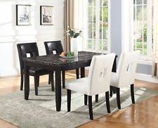 black marble dining table set marble dining room set ebay