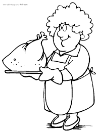 thanksgiving color coloring pages kids holiday