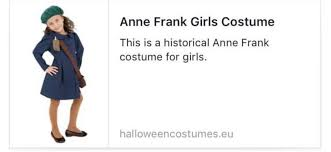 Childrens Halloween Costumes Sale Outrage U0027anne Frank U0027 Children U0027s Halloween Costume Sale
