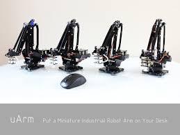 uarm is an arduino powered desktop 4 axis parallel mechanism robot