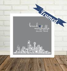 wedding gift nyc new york skyline wedding gift personalized new york city