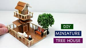 Fairy Garden Craft Ideas - diy miniature tree house for fairy garden 3 creative craft
