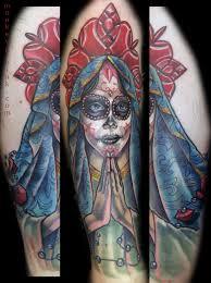 praying hands tattoo for girls sugar skull with praying hands by monkeyproink beto on deviantart