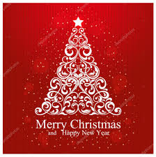 merry christmas happy card beautiful floral
