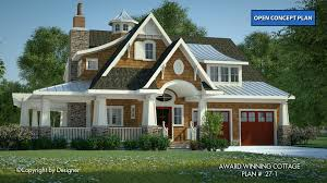 house plans with rear view award winning cottage house plans by garrell associates inc