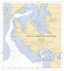 World Map Actual Size Rock Hall Harbor Swan Creek Nautical Chart νοαα Charts Maps