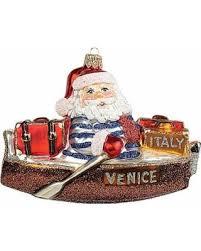 amazing deal on italian santa glass ornament
