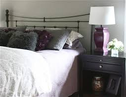 Gray And Purple Bedroom by The Yellow Cape Cod Dramatic Master Bedroom Makeover Before And After