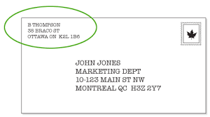 Business Letter Return Address address a letter to canada business templated business