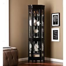 ashley furniture corner curio cabinet corner curio cabinets solid wood cabinet with light mahogany finish
