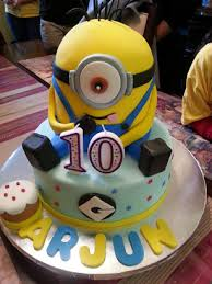 boys birthday minion themed fondant cake boys birthday cake