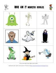 pictures of halloween monsters ms carlie u0027s little learners preschool halloween activity