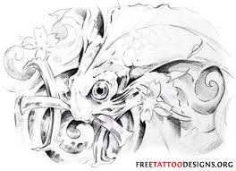 grey koi fish pisces tattoo sketch photos pictures and sketches