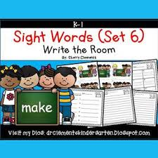 Room Dolch Word Games - write the room sight words set 6 by sherry clements tpt