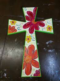 wood crosses for crafts painted wooden cross diy painted wooden