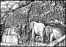 mahabalipuram temple elephants sculptures in a single rock