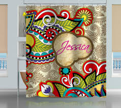 Yellow Paisley Shower Curtain by Personalized Vintage Floral Paisley Shower Curtain Creativgoods