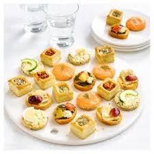 food canapes canapé selection large waitrose
