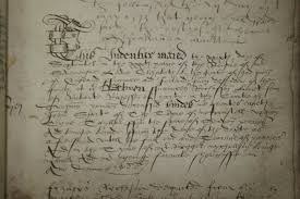 tudor writing paper tudor apprenticeship register deposited with tyne wear archives entry relating to the apprenticeship of francis richeson 29 september 1588 twam ref gu ty 57