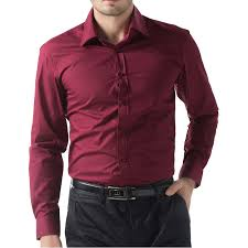Top Long Sleeve Mens Brand Dress Shirts Solid Color Camisa Corinthians  &BH41