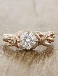 hippie wedding ring unique diamond engagement rings ken design