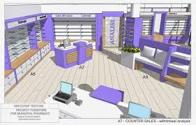 pharmacy project furniture layout 3d rosanna mataloni designer 10