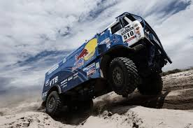 red bull dakar rally russian kamaz race truck desert racing sand