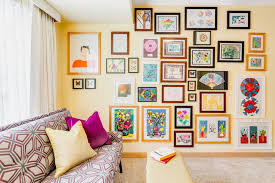 Picture Frame Hanging Ideas Picture Hanging Ideas Home Office Eclectic With Children U0027s Art