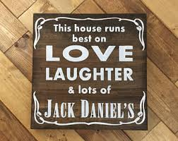 Jack Daniels Curtains Jack Daniels Decor Etsy