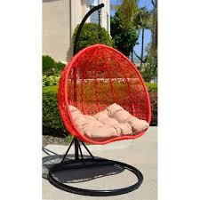 Rattan Swinging Chair Egg Shape Wicker Rattan Swing Chair Hanging Hammock 2 Person 418