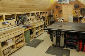woodshop workshop 2nd floor of garage