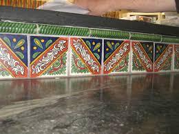 Home Decor Gallery Backsplash Of Mexican Tile In A Countertop Mexican Home Decor