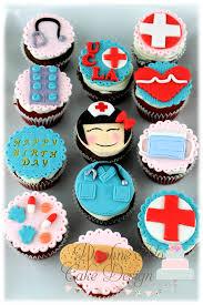 12 edible medical cupcake toppers healthcare fondant nurse