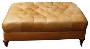 Leather Ottomans Great Leather Cocktail Ottoman Unavailable Industries Leather