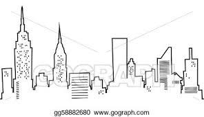 clip art cartoon new york skyline stock illustration gg58882680