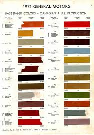 1971 chevelle paint charts 62 99