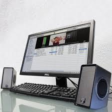 haut parleur pour ordinateur de bureau gogroove enceintes pc usb stéréo avec basses profondes haut