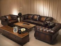 china top quality brown color vintage chesterfield luxury leather