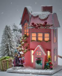mini lights for christmas village 158 best crafty ceramic christmas village pink images on pinterest