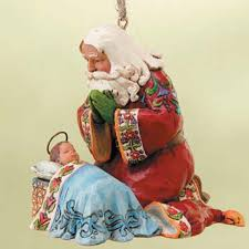 jim shore santa with baby jesus ornament wendell august