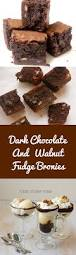 dark chocolate and walnut fudge brownies recipe kitchen fables