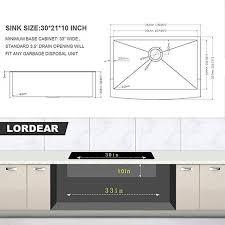 what size sink fits in 30 inch cabinet lordear 30 inch matte black farmhouse kitchen sink apron