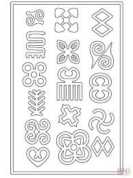 adinkra symbols african coloring pages countries u0026 culture