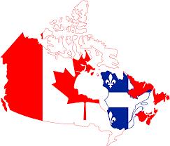 Political Map Of Canada Map Canada Political 2 Mapsofnet Map Of Canada With Québec In Red