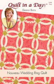 wedding ring quilt pattern nouveau wedding ring quilt eleanor burns signature quilt pattern