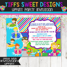 Invitation Card For Pool Party Schools Out Water Party Invitation Pool Party Water