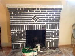 home in the district painting the red brick fireplace before after