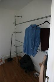 Galvanized Pipe Clothes Rack Diy Galvanized Pipe Closet