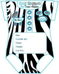 downloadable zebra print baby shower invitation template