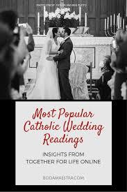 catholic wedding readings most popular catholic weddings readings washington dc wedding